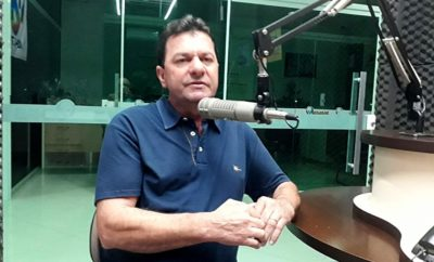 Vereador Valdeci em entrevista com rádio D+News