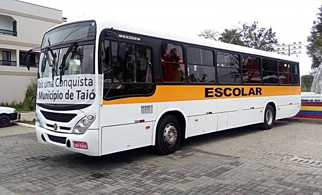 Ônibus para frota educação em Taió