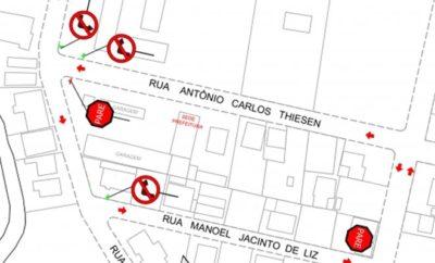Mapa de novas vias de Pouso Redondo